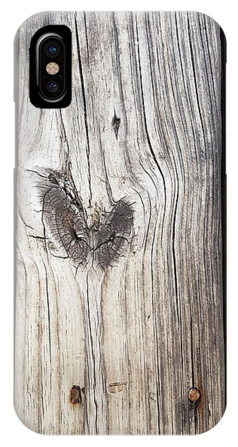 Love IPhone X Case featuring the photograph Heart Of Wood by Ami Brown