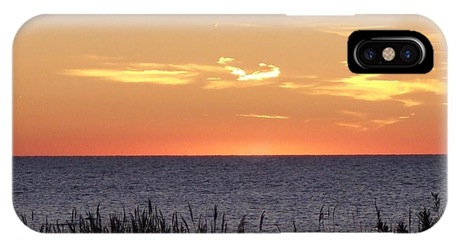 Sunset IPhone X Case featuring the photograph Heart Sunset by Michelle Miron-Rebbe