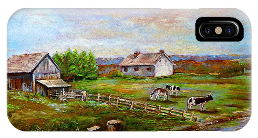 Ile D'orleans IPhone X Case featuring the painting Heaven On Earth by Carole Spandau