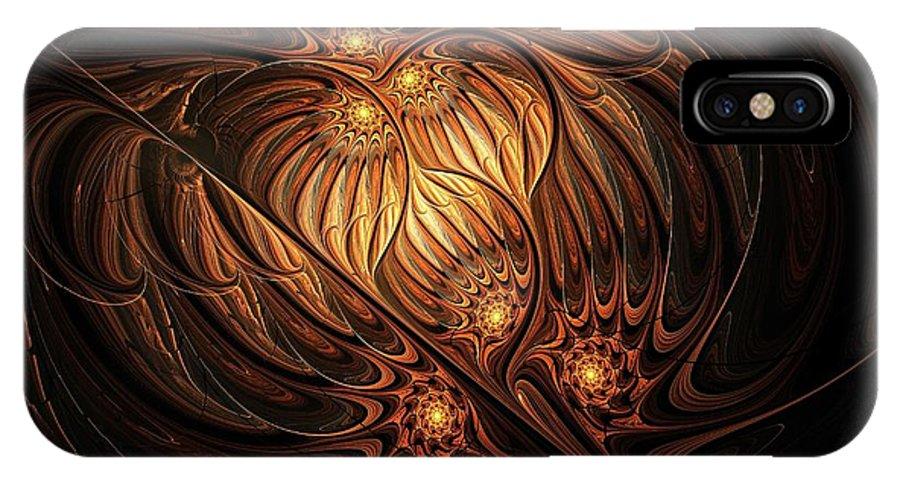 Digital Art IPhone Case featuring the digital art Heavenly Onion by Amanda Moore