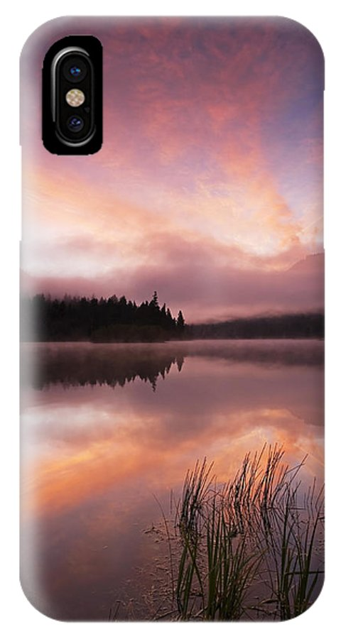 Sunrise IPhone X Case featuring the photograph Heavenly Skies by Mike Dawson