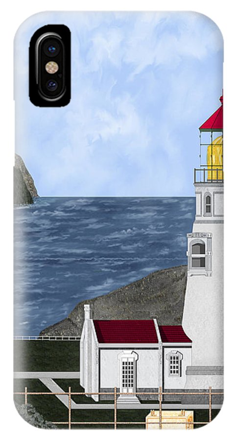 Lighthouse IPhone Case featuring the painting Heceta Head Oregon by Anne Norskog