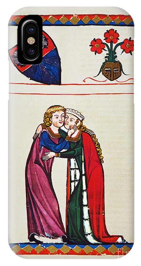 14th Century IPhone X Case featuring the photograph Heidelberg Lieder, 14th C by Granger