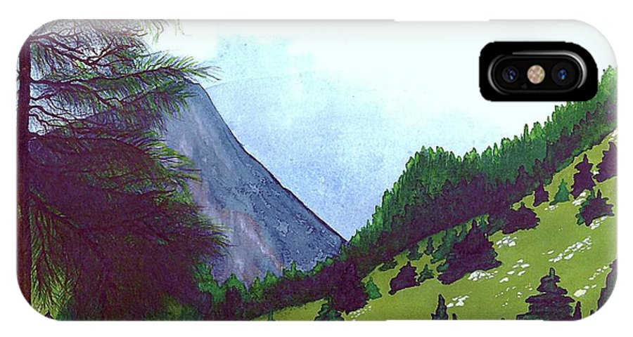 Original Painting IPhone X Case featuring the painting Heidi's Place by Patricia Griffin Brett