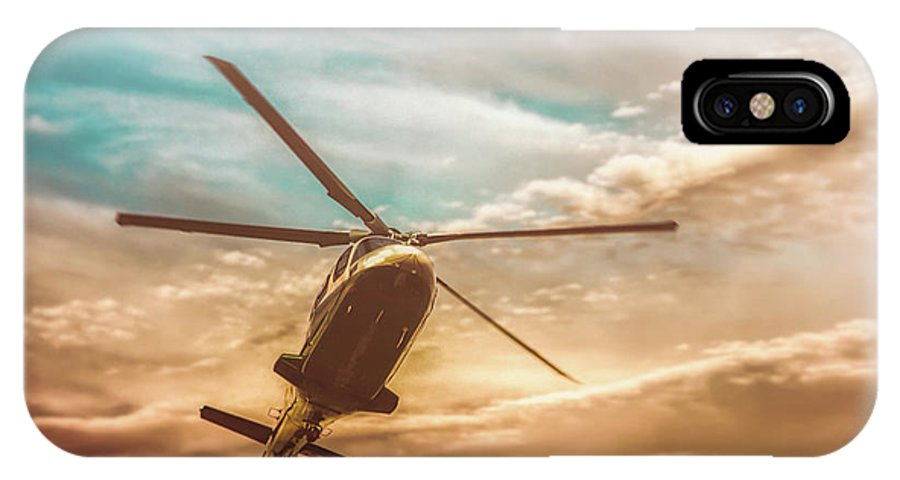 Aviation IPhone X Case featuring the photograph Helicopter by Bob Orsillo