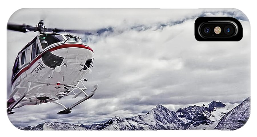 Helihiking IPhone X Case featuring the photograph Helihiking In The Canadian Rockies by Kay Brewer