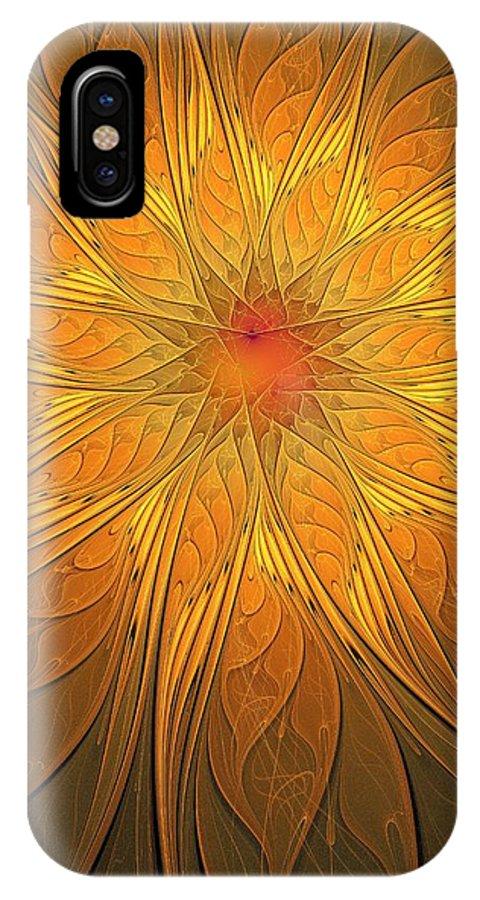 Digital Art IPhone X Case featuring the digital art Helio by Amanda Moore
