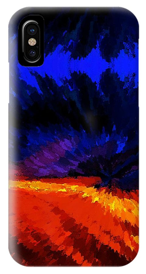 Modern IPhone X Case featuring the digital art Hellbound by Florene Welebny
