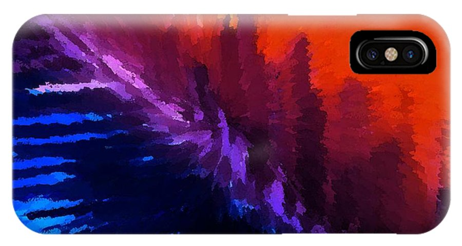 Modern IPhone X / XS Case featuring the digital art Hellbound II by Florene Welebny