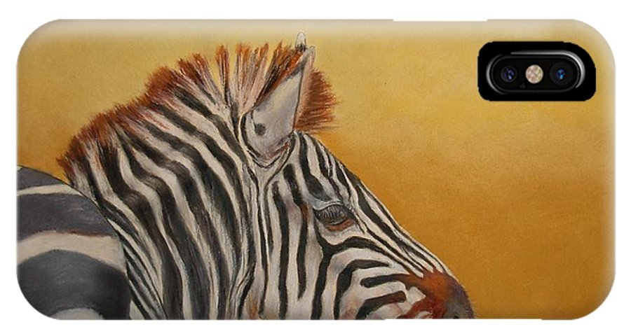Africa IPhone X Case featuring the painting Hello Africa by Ceci Watson