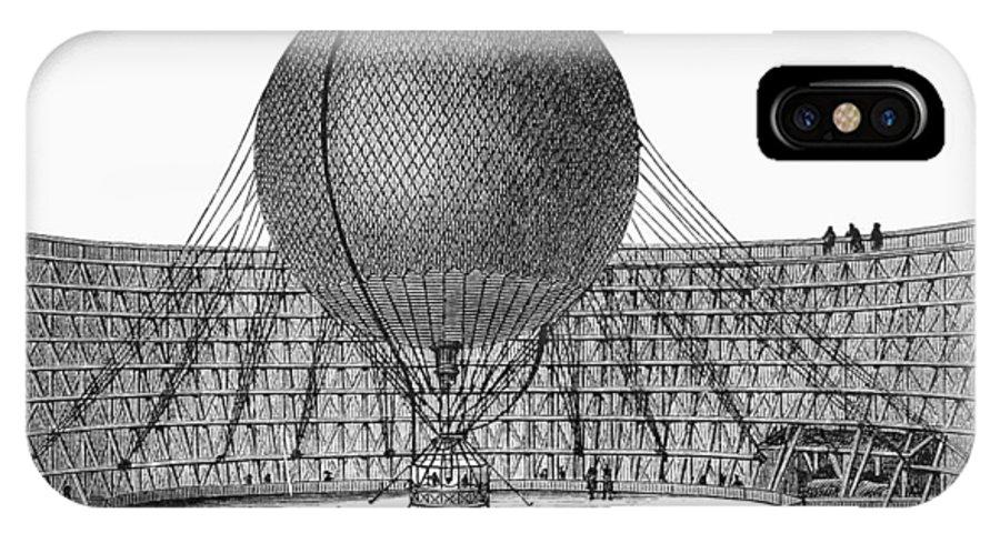19th Century IPhone X Case featuring the photograph Henri Giffard: Balloon by Granger