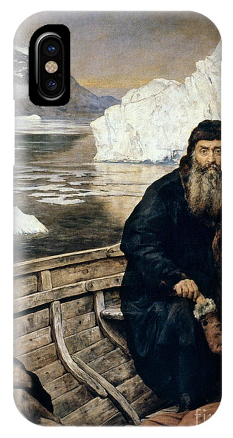 1611 IPhone X Case featuring the painting Henry Hudson And Son by Granger