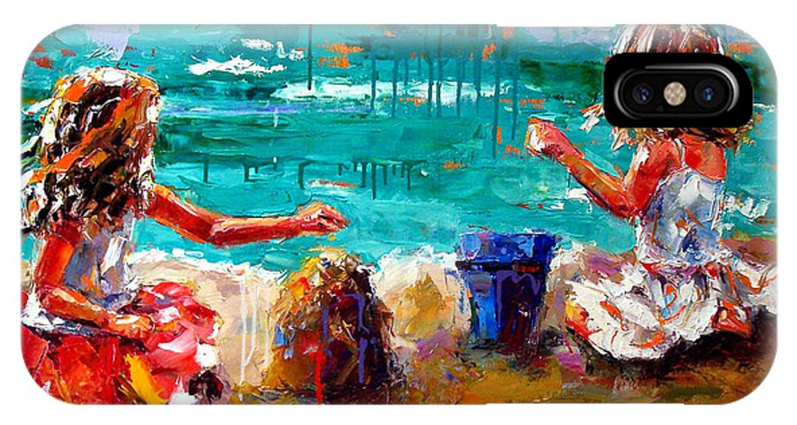 Seascape IPhone Case featuring the painting Her Blue Bucket by Debra Hurd