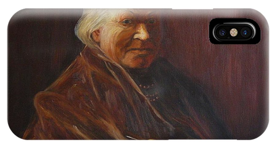 Woman IPhone X Case featuring the painting Herbert Abrams Mother by Quwatha Valentine