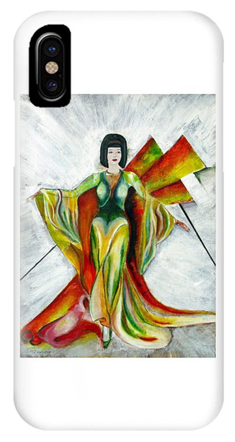 Dress IPhone X Case featuring the painting Here Comes the Sun by Tom Conway