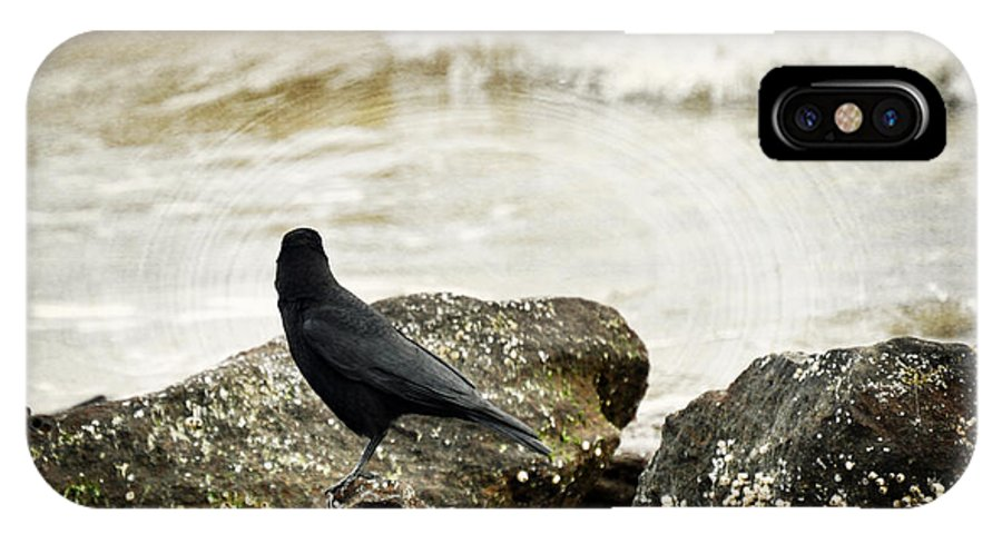 Crow IPhone X Case featuring the photograph Here I Love You by Rebecca Sherman