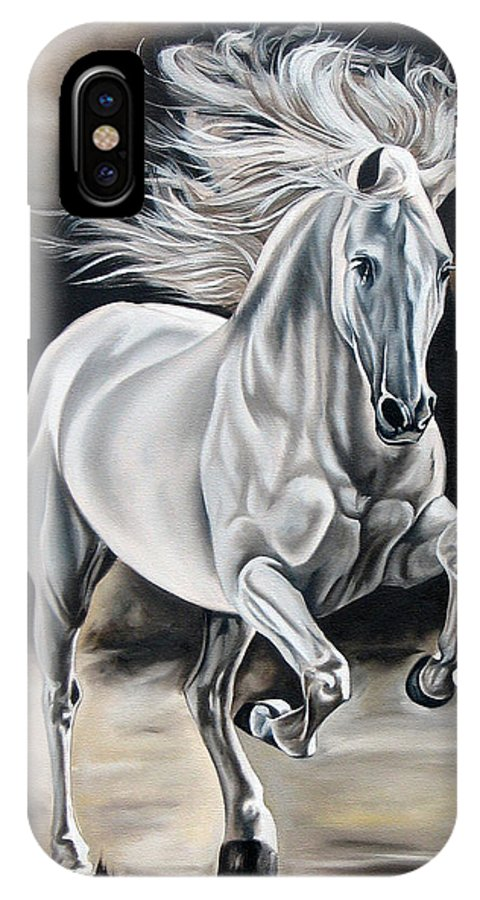 Horse IPhone X Case featuring the painting Hereje by Ilse Kleyn