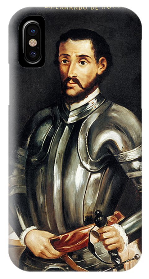 16th Century IPhone X Case featuring the painting Hernando De Soto by Granger