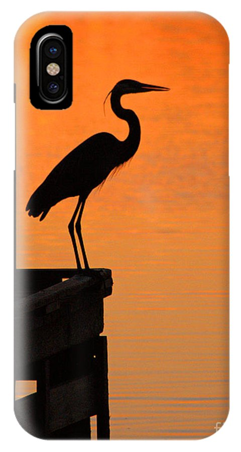Clay IPhone X Case featuring the photograph Heron At Sunset by Clayton Bruster