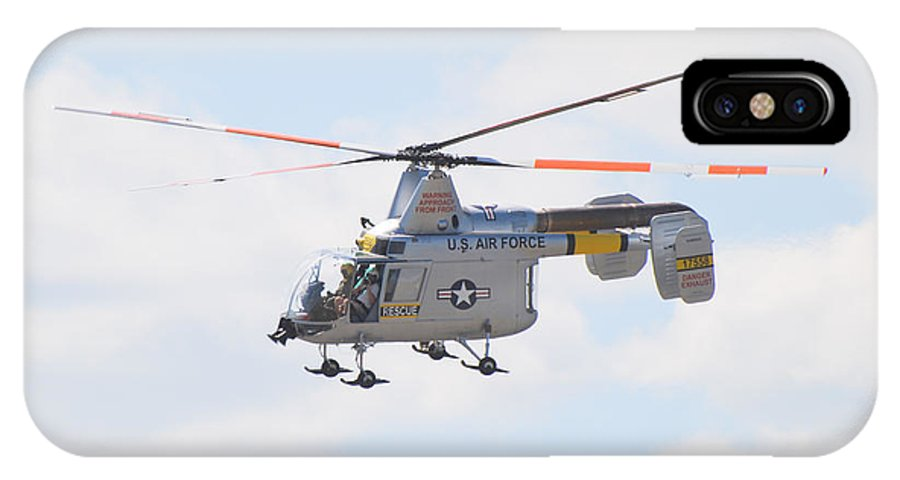 Helicopter IPhone Case featuring the photograph Hh-43b Huskie by Larry Keahey