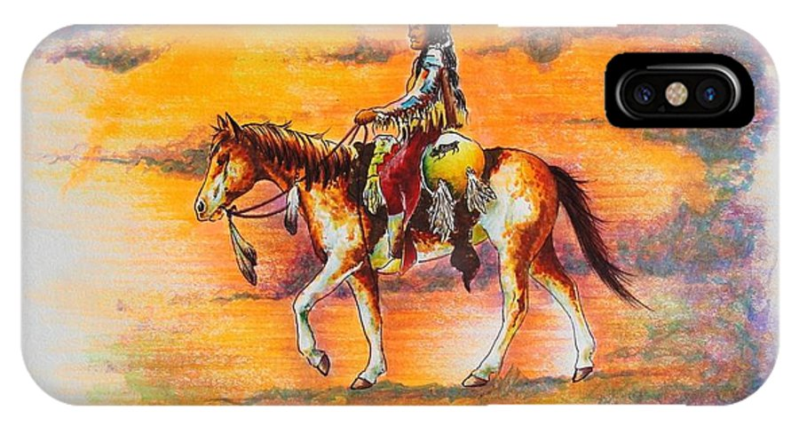 Native IPhone X Case featuring the painting Hi Lighter Pen Painting 1 by Jimmy Smith
