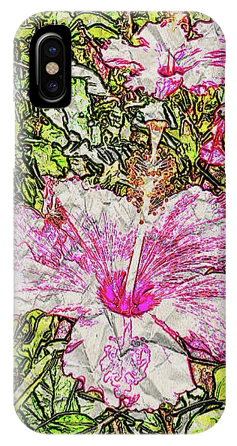 Still Life IPhone X Case featuring the photograph Hibiscus 101516 1a by Henry Mills