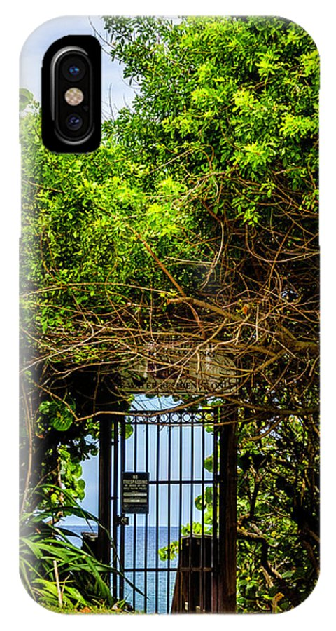 Gate IPhone X Case featuring the photograph Hidden Gate by Wolfgang Stocker