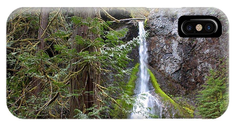 Waterfall IPhone X Case featuring the photograph Hidden Rainforest Treasure by Carol Groenen