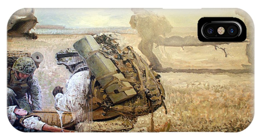 Military Art IPhone X Case featuring the painting Hidden Wings by Todd Krasovetz