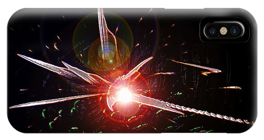 Higgs Boson IPhone X Case featuring the painting Higgs Boson Work B by David Lee Thompson