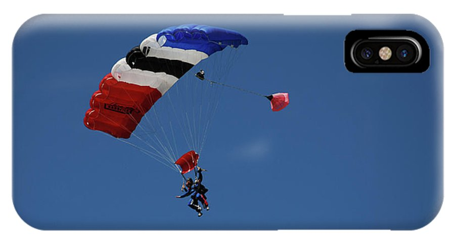 Skydiving IPhone X Case featuring the photograph High Flyers 3 by Carol Eliassen