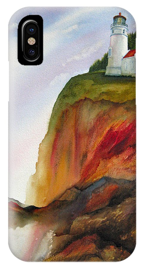 Coastal IPhone X Case featuring the painting High Ground by Karen Stark