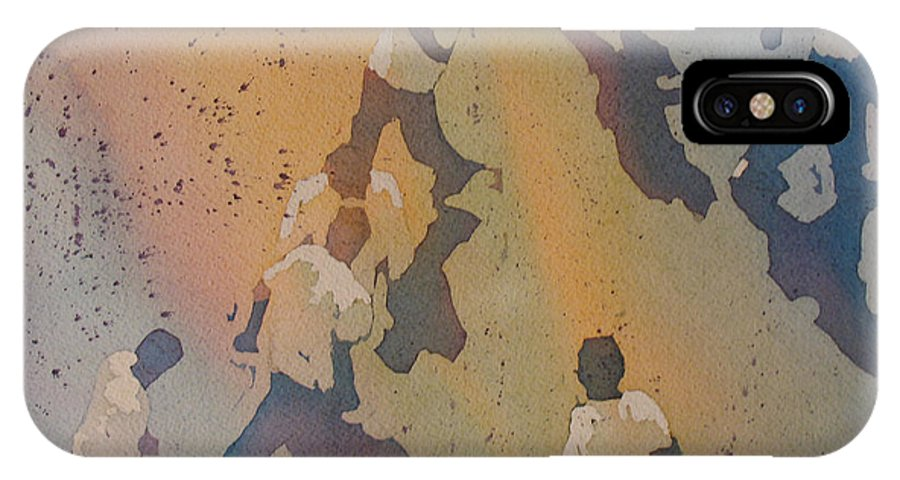 Men IPhone X Case featuring the painting High Noon At The Gravel Spit II by Jenny Armitage