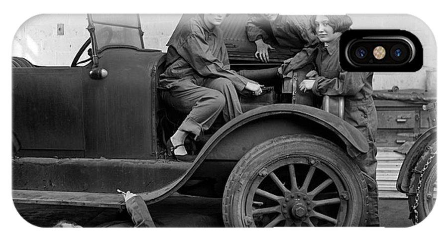 1927 IPhone X Case featuring the photograph High School Mechanics 1927 by Granger