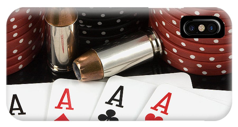 Aces IPhone Case featuring the photograph High Stakes Poker by Al Mueller