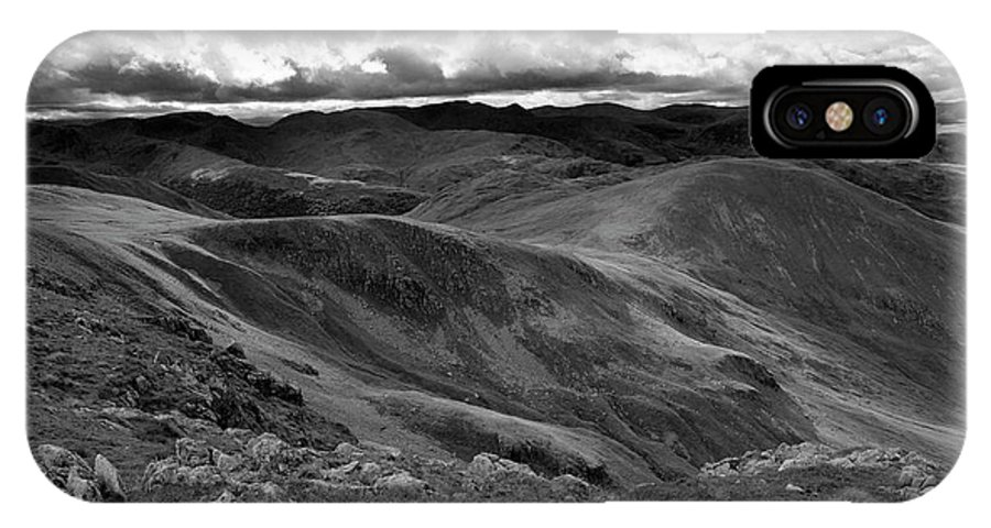 High Street IPhone X Case featuring the photograph High Street Path, Lake District National Park, Cumbria by Dave Porter