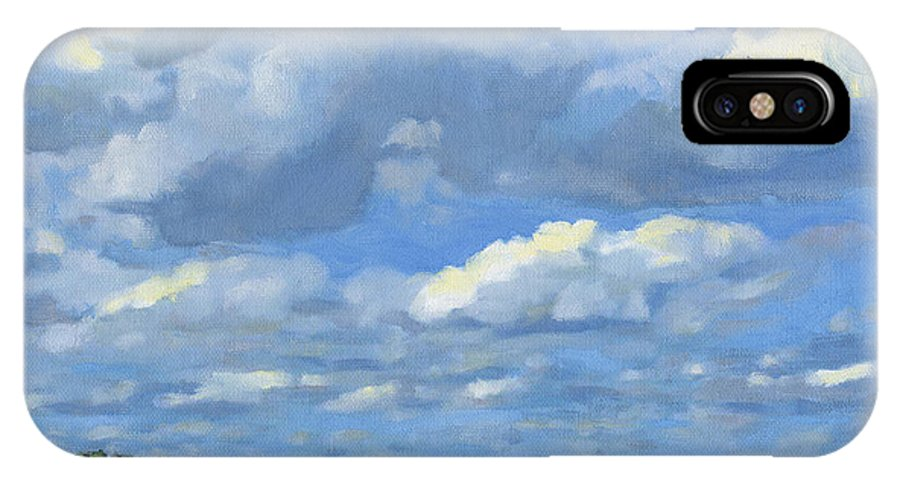 Landscape IPhone X Case featuring the painting High Summer by Bruce Morrison