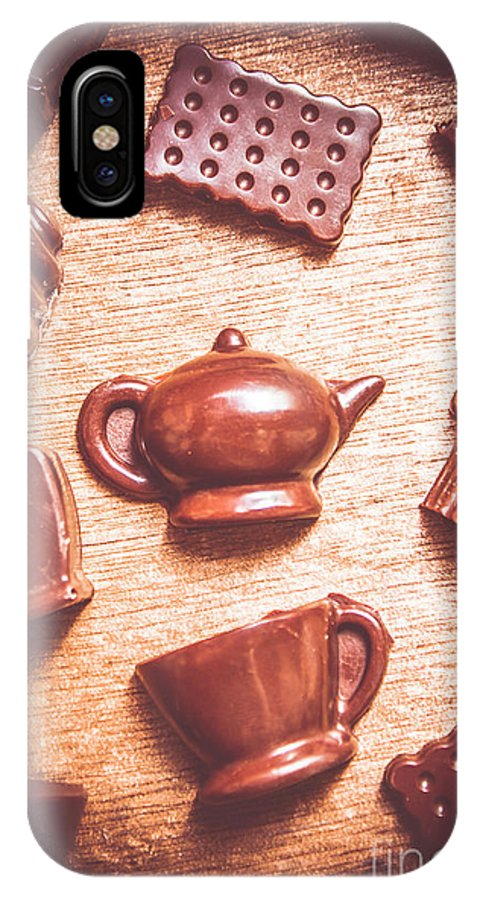 Tea IPhone X Case featuring the photograph High Tea Snacks by Jorgo Photography - Wall Art Gallery