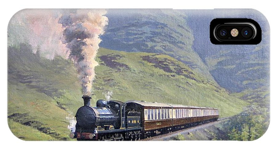 Steam IPhone X Case featuring the painting Highland Steam by Richard Picton