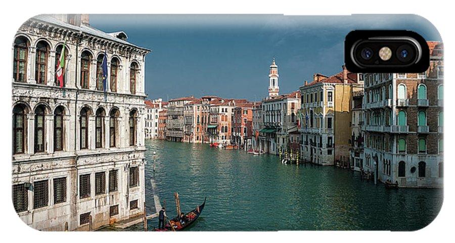 Hight Tide IPhone X Case featuring the photograph Hight Tide In Venice by Livio Ferrari