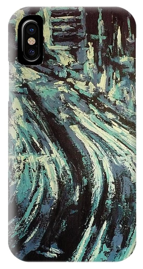 Highway IPhone X Case featuring the painting Highway Highlighted by Ericka Herazo