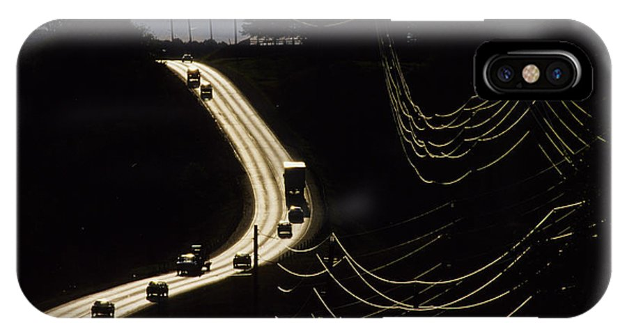 Highway IPhone Case featuring the photograph Highway Sunset by Steve Somerville