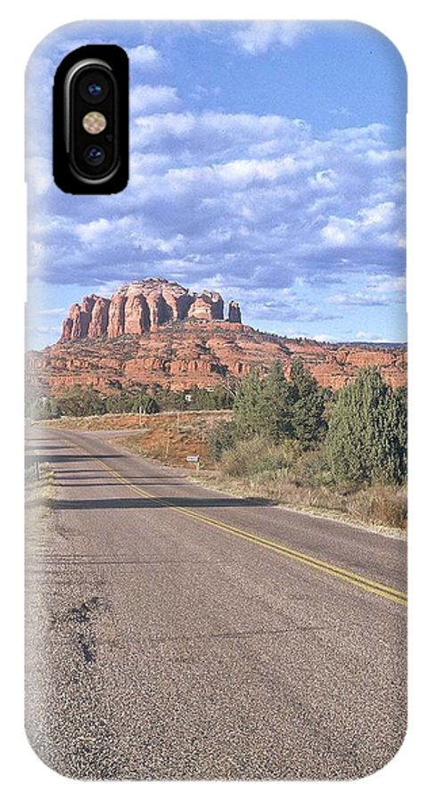 Sedona IPhone X Case featuring the photograph Highway To Sedona by Gary Wonning