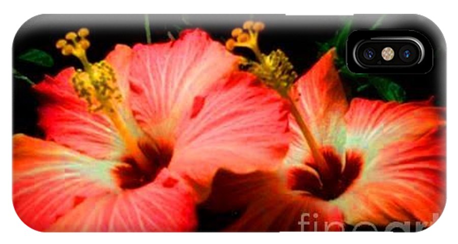 IPhone X Case featuring the digital art Hibiscus by Dawn Johansen