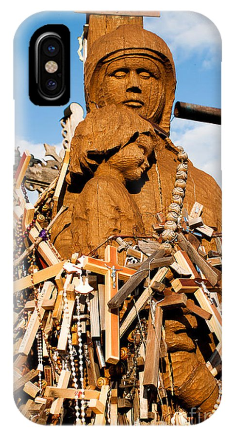 Hill Of Crosses IPhone X Case featuring the photograph Hill Of Crosses Lithuania by Christian Hallweger