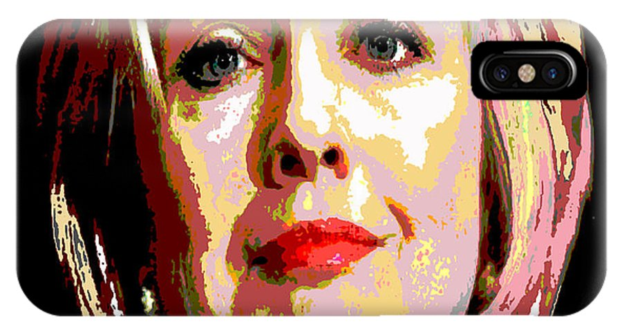 Hillary IPhone X Case featuring the painting Hillary by Saundra Myles