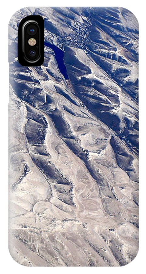 Aerial IPhone X Case featuring the photograph Hills And Valleys Aerial by Carol Groenen
