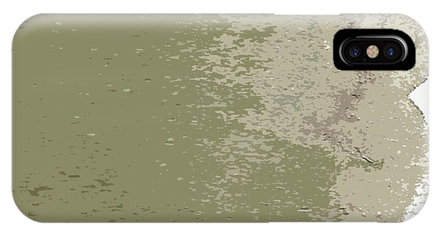 Freta IPhone X Case featuring the mixed media Hills by Freta Thead