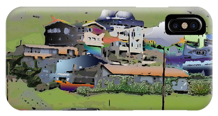 Homes IPhone X Case featuring the photograph Hillside City by Arline Wagner