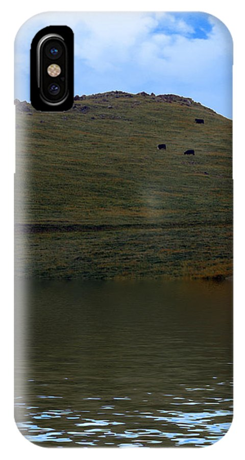 Ca58 IPhone X Case featuring the photograph Hillside Reflection by Gravityx9 Designs